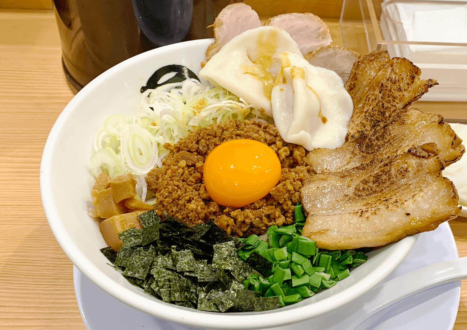 麺や マルショウ 地下鉄新大阪店 台湾まぜそばDX