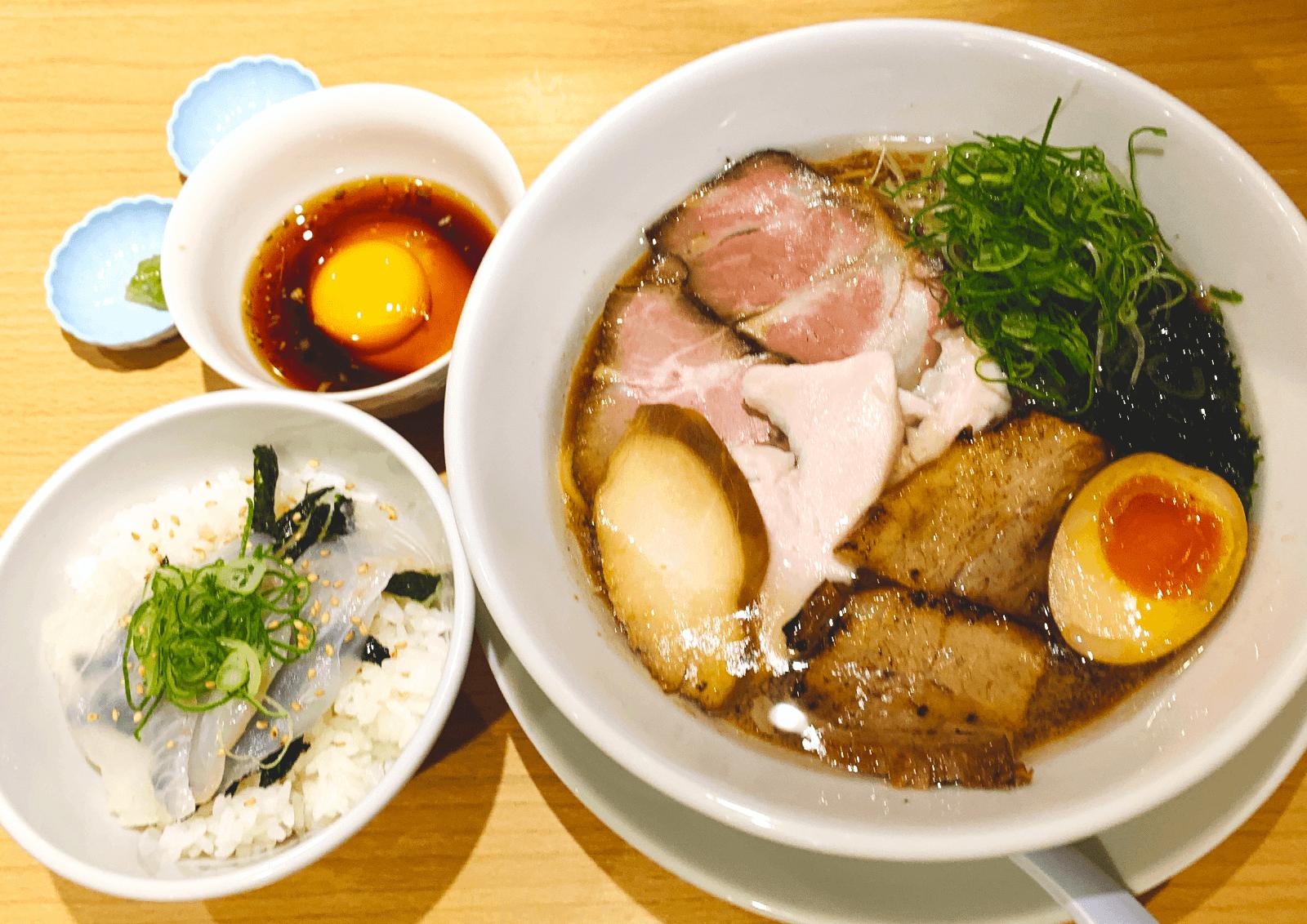 うまい麺には福来たる 西中島店 鯛醤油スペシャル 宇和島風鯛めしミニ