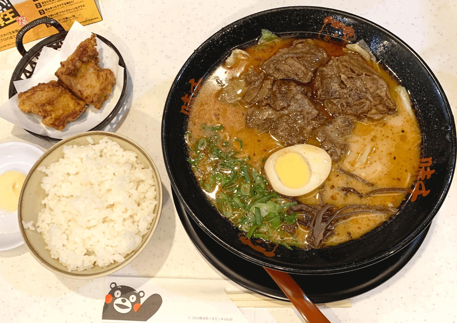 味千拉麺 新大阪店 パイクー麺 カラアゲセット