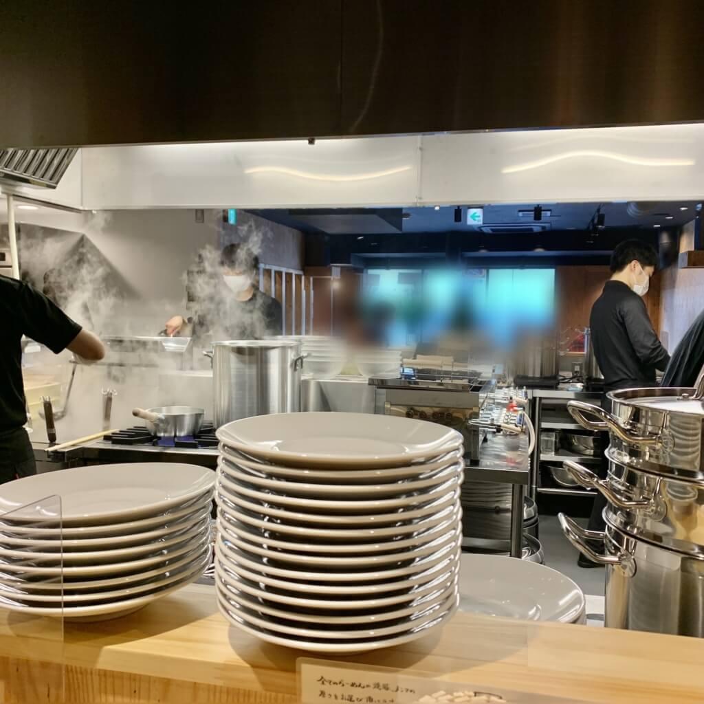 人類みな麺類拡張店舗厨房